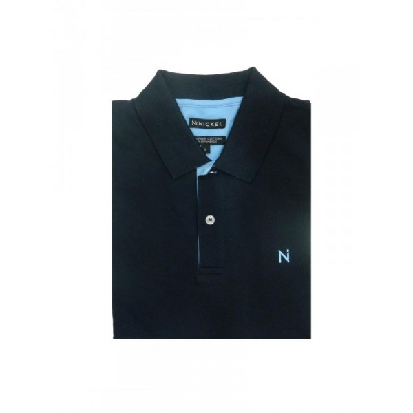 Nickel Pima Polo Shirt Navy
