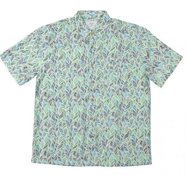 Kingston Grange Grn Leaf Shirt Front