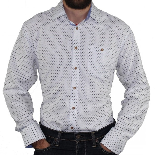 Portobello Road Ironcheater Dress Shirt White/Blue