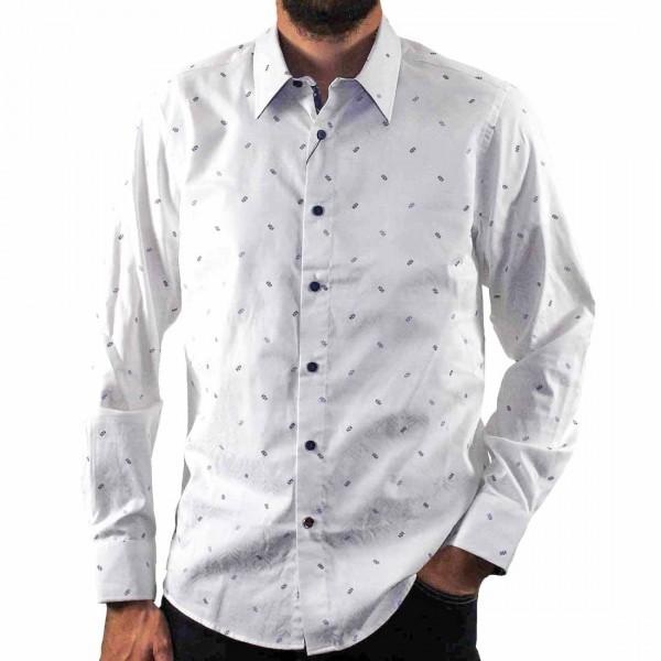 John Lennon By English Laundry Long Sleeve Jacquard Shirt Front