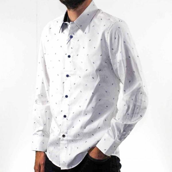 John Lennon By English Laundry Long Sleeve Jacquard Shirt Side