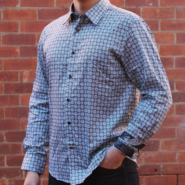 John Lennon By English Laundry Long Sleeve Daltry Print Shirt