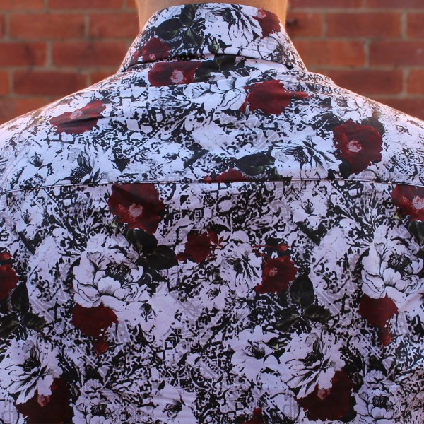John Lennon By English Laundry Long Sleeve Martin Print Shirt Back