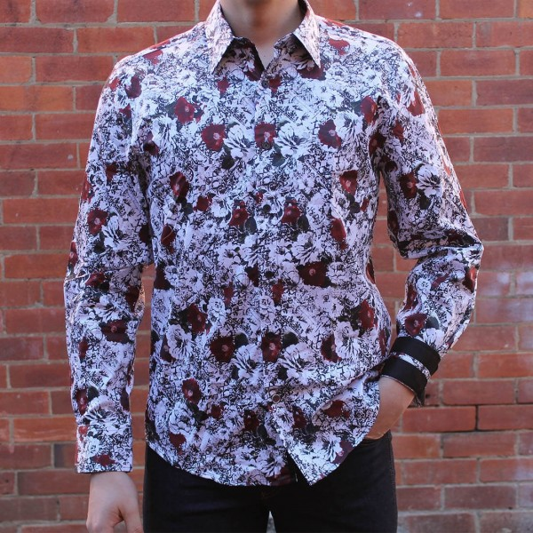 John Lennon By English Laundry Long Sleeve Martin Print Shirt Front