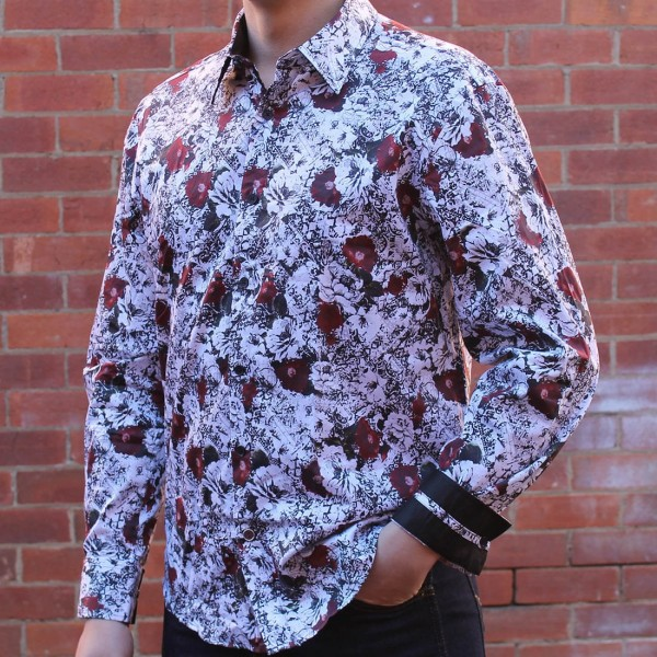 John Lennon By English Laundry Long Sleeve Martin Print Shirt