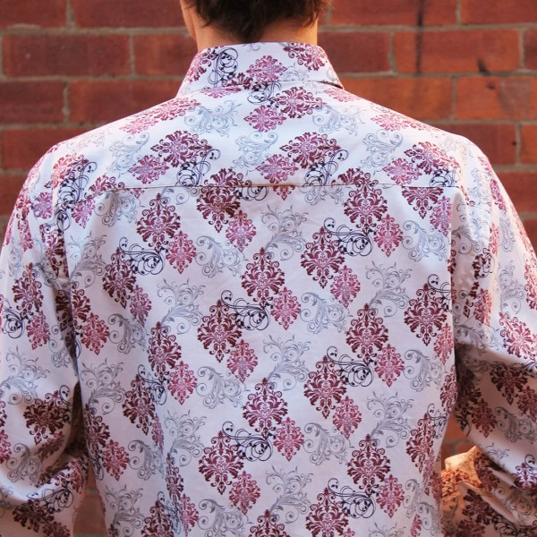 John Lennon By English Laundry Long Sleeve Cooper Print Shirt - Back