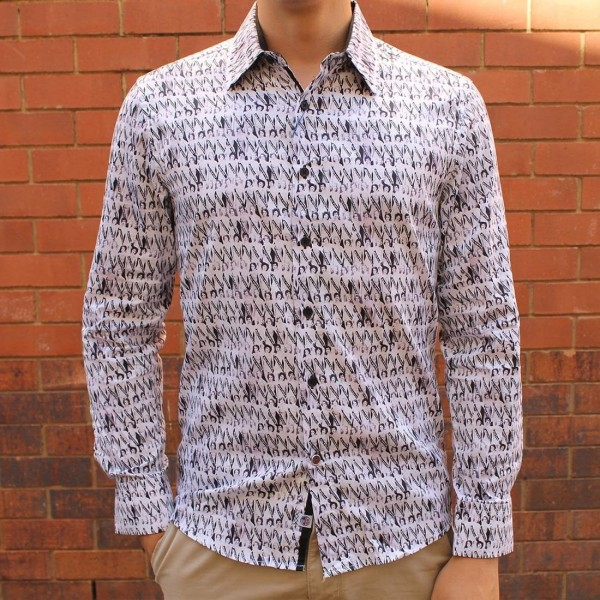 John Lennon By English Laundry Long Sleeve Miss World Print Shirt