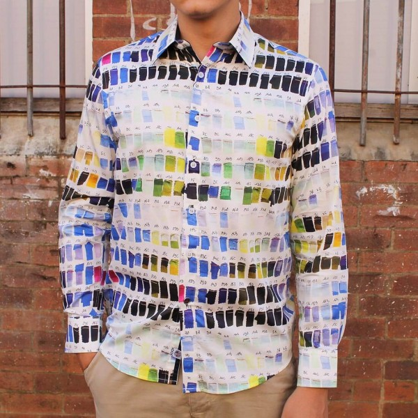 John Lennon By English Laundry Long Sleeve Oliver Print Shirt