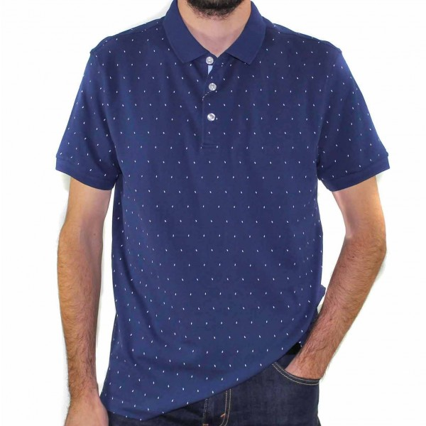 Stafford Ellinson Short Sleeve Kirkham Polo Navy Front