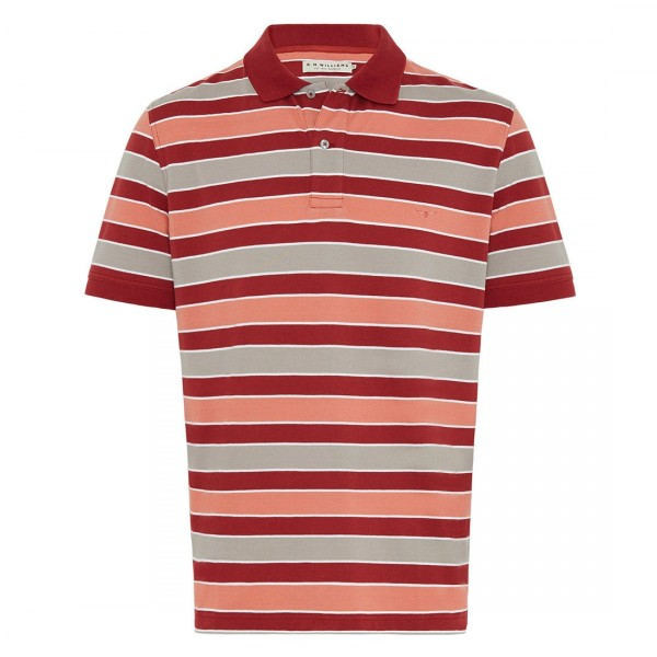RM Williams Red/Grey Rod Polo