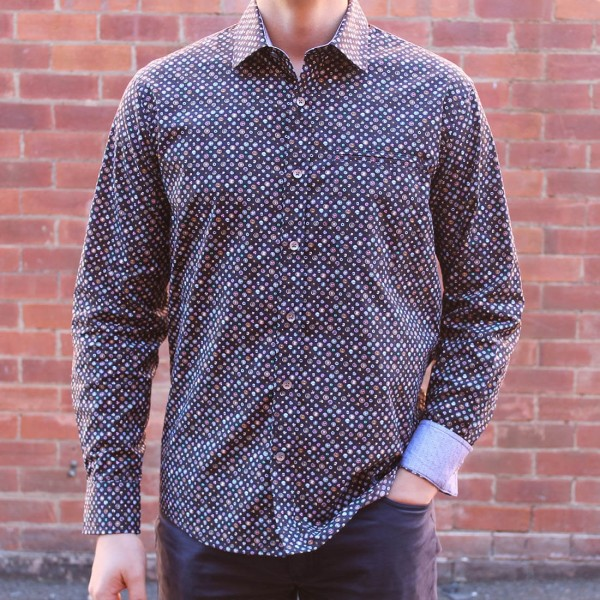 Berlin Gem Print Long Sleeve Shirt Front