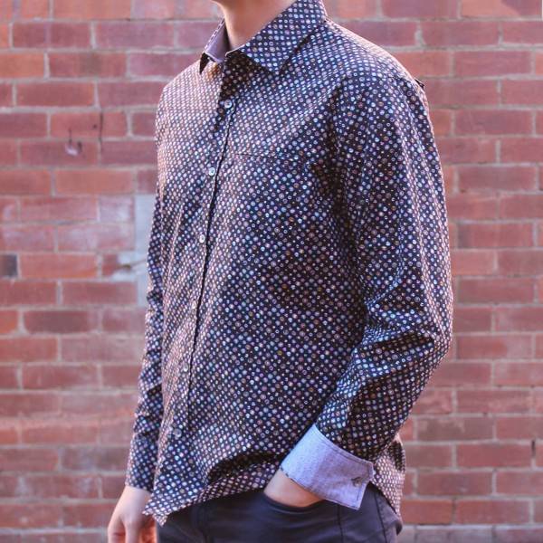Berlin Gem Print Long Sleeve Shirt Side