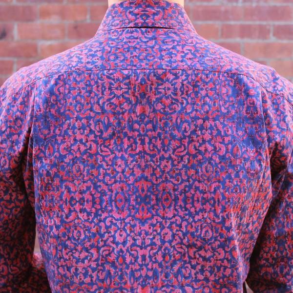 Berlin Wallpaper Print Long Sleeve Shirt Back