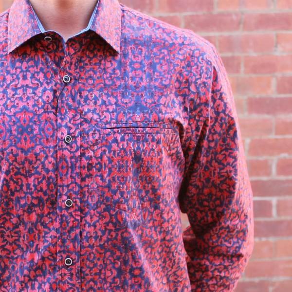 Berlin Wallpaper Print Long Sleeve Shirt Close