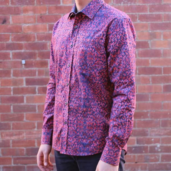 Berlin Wallpaper Print Long Sleeve Shirt Side
