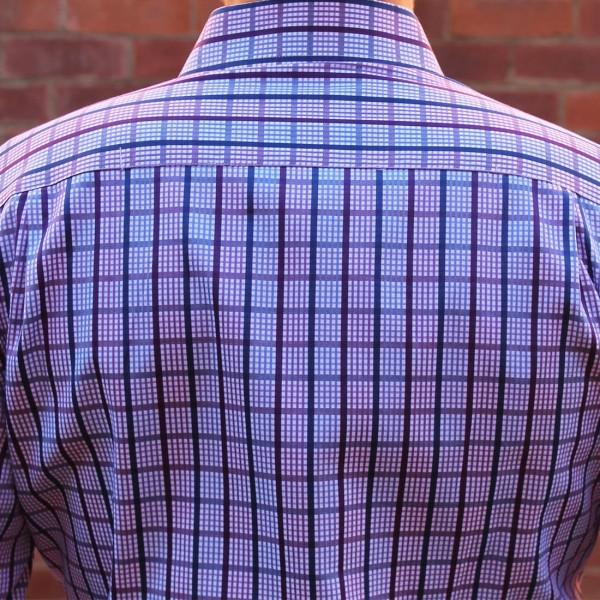 Berlin Check Print Long Sleeve Shirt Back