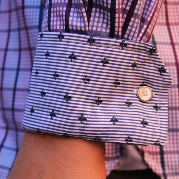 Berlin Check Print Long Sleeve Shirt Cuff