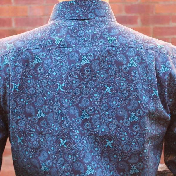 Berlin Swirl Print Long Sleeve Shirt Back