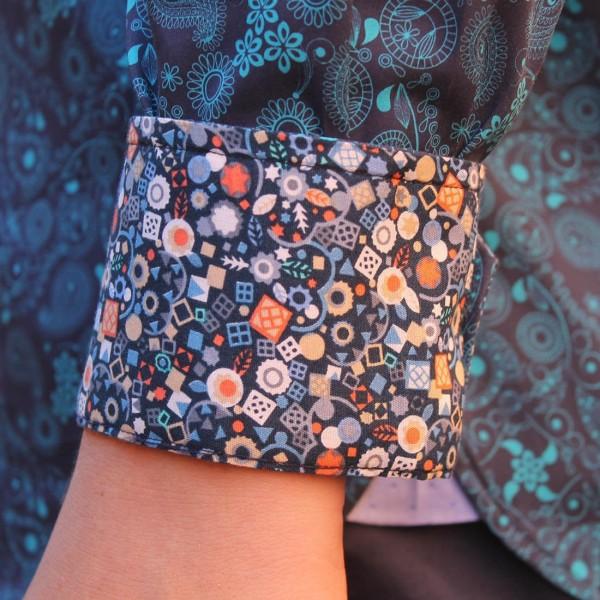 Berlin Swirl Print Long Sleeve Shirt Cuff