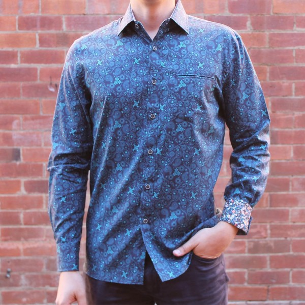 Berlin Swirl Print Long Sleeve Shirt Front