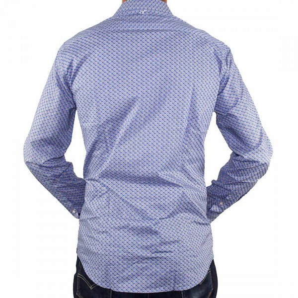 Cutler L/S BlueBird Dress Shirt Back