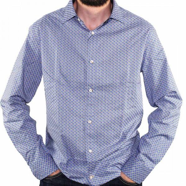 Cutler L/S BlueBird Dress Shirt Front