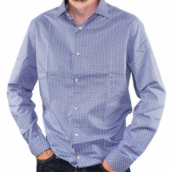 Cutler L/S BlueBird Dress Shirt Side
