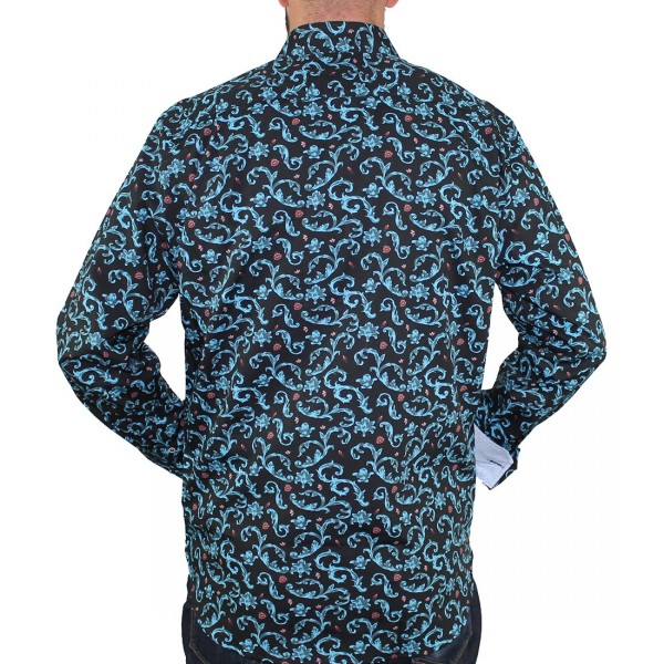 Berlin Long Sleeve Floral Shirt-Back