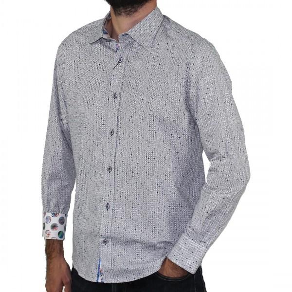 Scoop Long Sleeve Printed Shirt Pepper