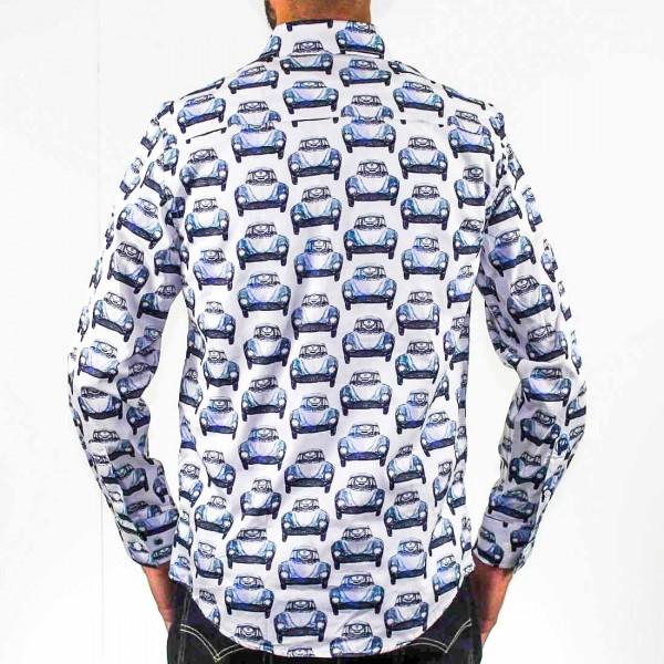 John Lennon By English Laundry Long Sleeve Cars Shirt Back