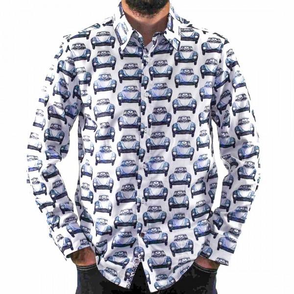 John Lennon By English Laundry Long Sleeve Cars Shirt Front