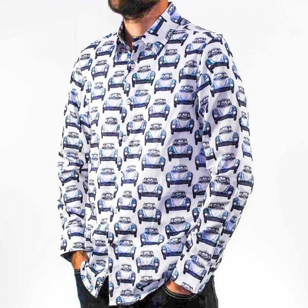 John Lennon By English Laundry Long Sleeve Cars Shirt Side