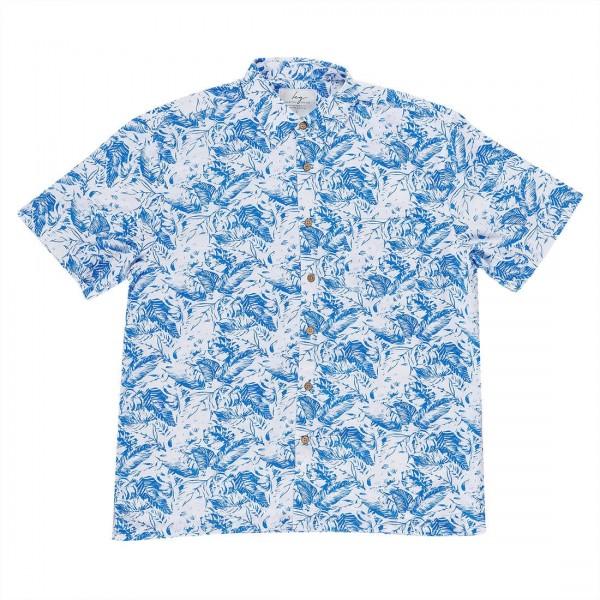Kingston Grange Blue Fern Bamboo Shirt
