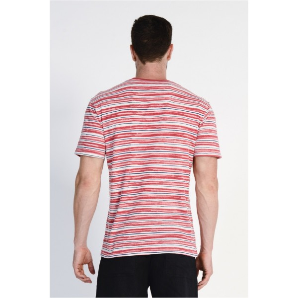 Mens Hemp/Cotton Striped Tee