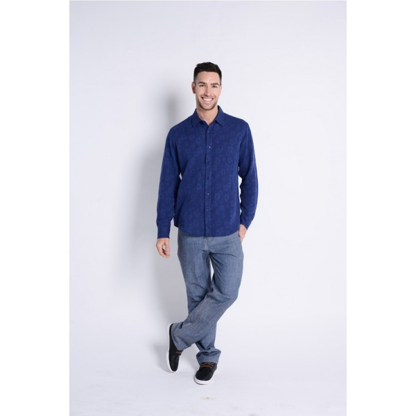 Braintree Hemp/Cotton Textured Long Sleeve Shirt - 4 Colours Available