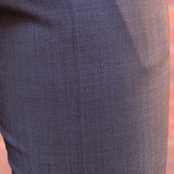 New England Code Charcoal Wool Blend Trouser Close
