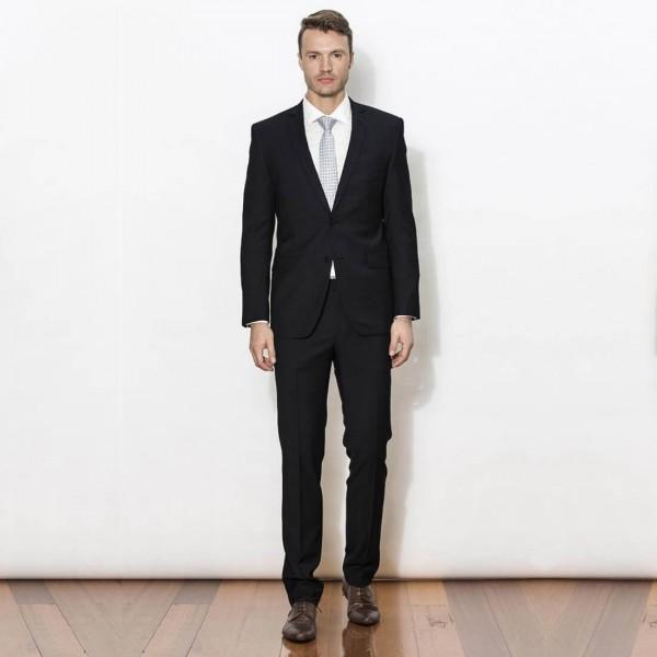New England Code Black Slim Suit