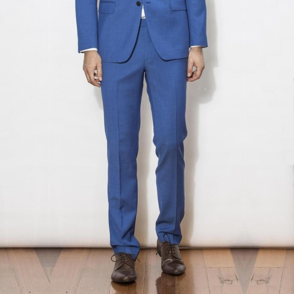 New England Code Blue Slim Suit Trousers