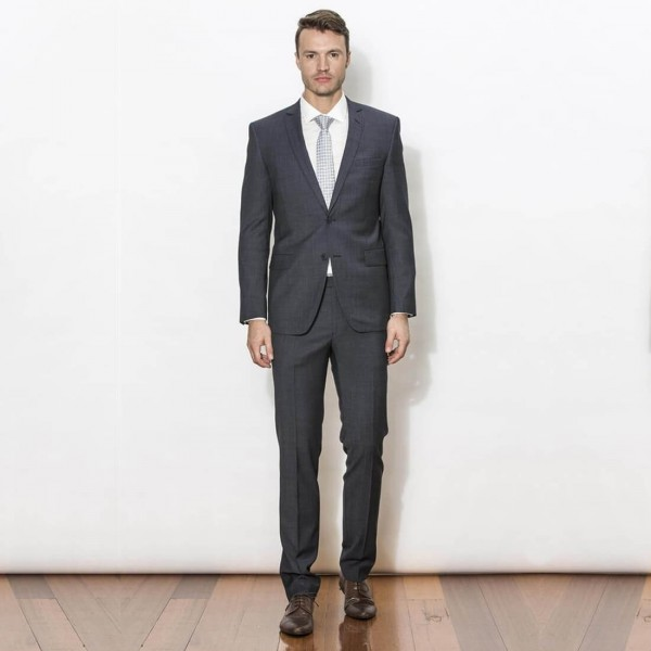 New England Code Charcoal Slim Suit