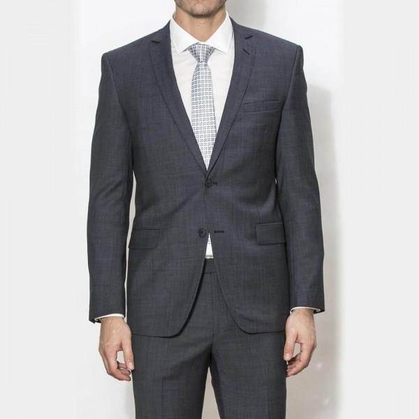 New England Code Charcoal Slim Suit Jacket