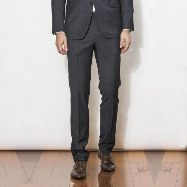 New England Code Charcoal Slim Suit Trouser