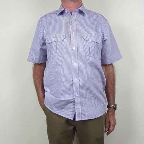 Nickel Short Sleeve Double Pocket Checked Shirt
