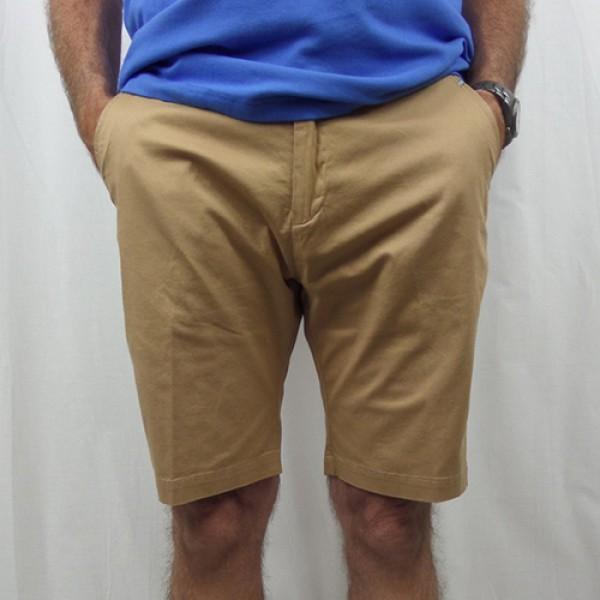 Nickel Cotton Stretch Short - Khaki - Front