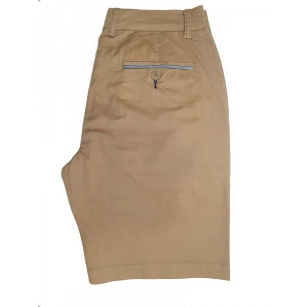 Nickel Cotton Stretch Short - Khaki - Flat