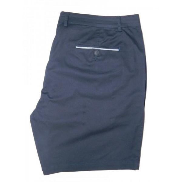 Nickel Cotton Stretch Short - Navy - Flat