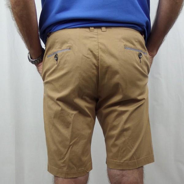 Nickel Cotton Stretch Short - Khaki - Back