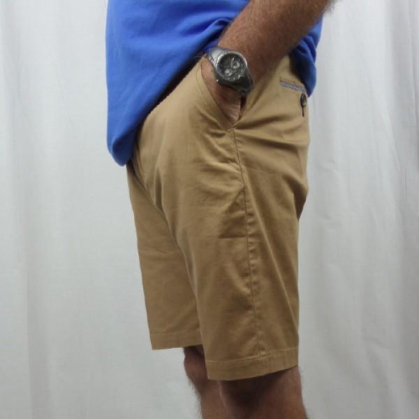 Nickel Cotton Stretch Short - Khaki - Side