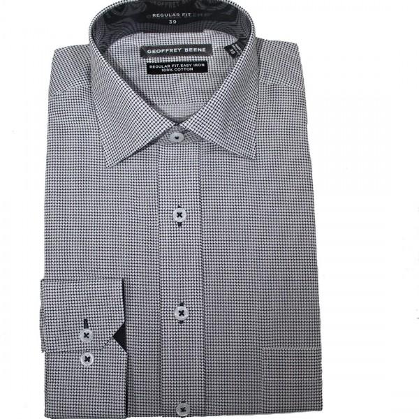 Geoffrey Beene Pesci Print Business Shirt