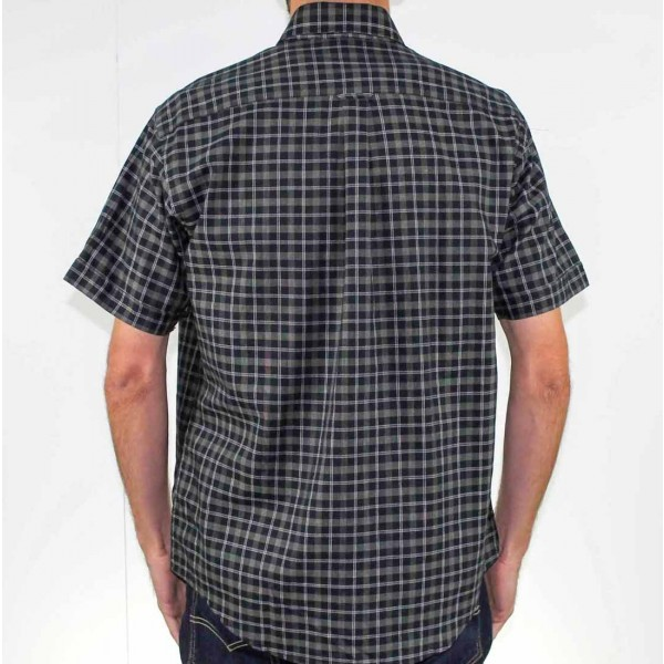 Back Bay Short Sleeve Pure Cotton Shirt Back