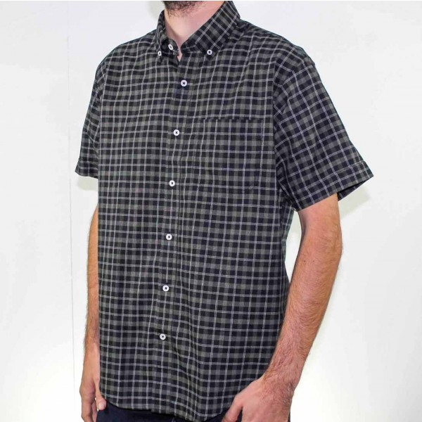 Back Bay Short Sleeve Pure Cotton Shirt Side